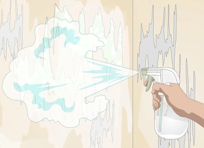 اسپری کردن کاغذ دیواری