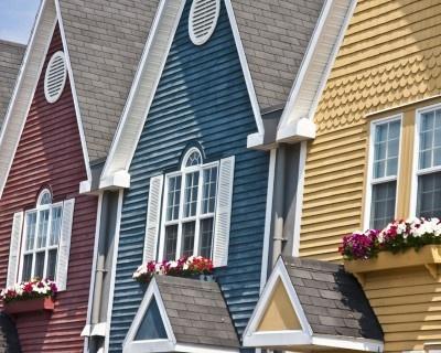 نمای ساختمان رنگارنگ