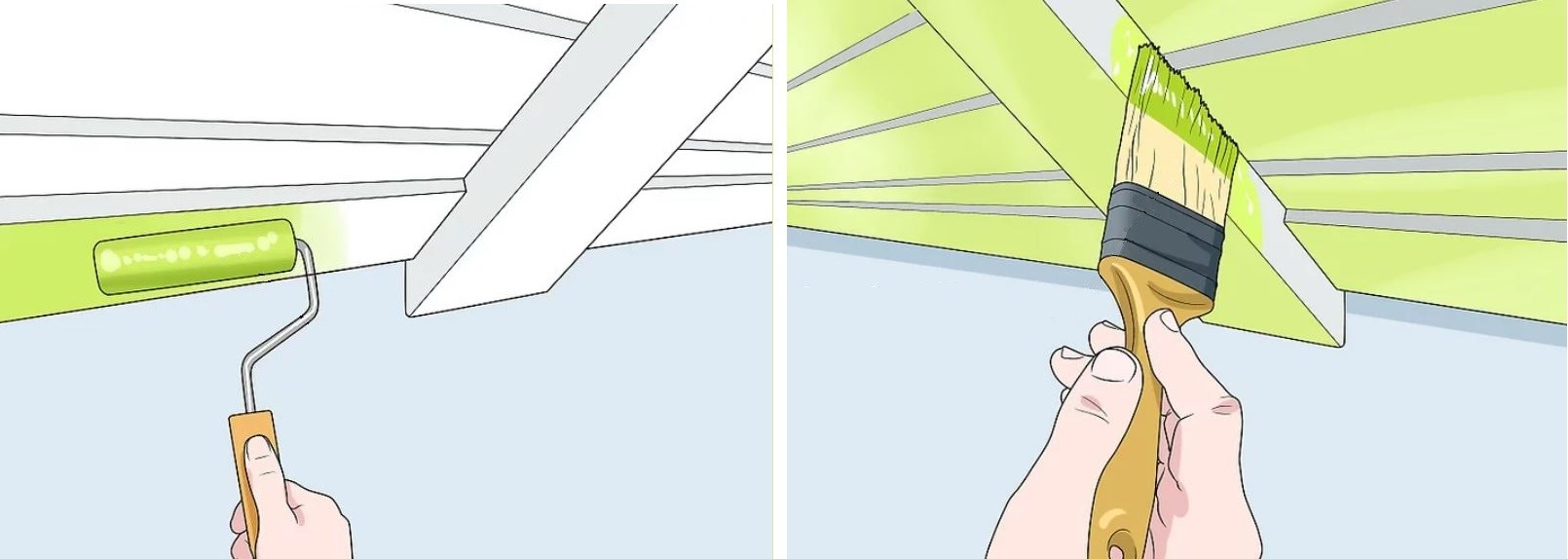آموزش گام به گام نقاشی ساختمان (قسمت ششم نقاشی سقف) 16
