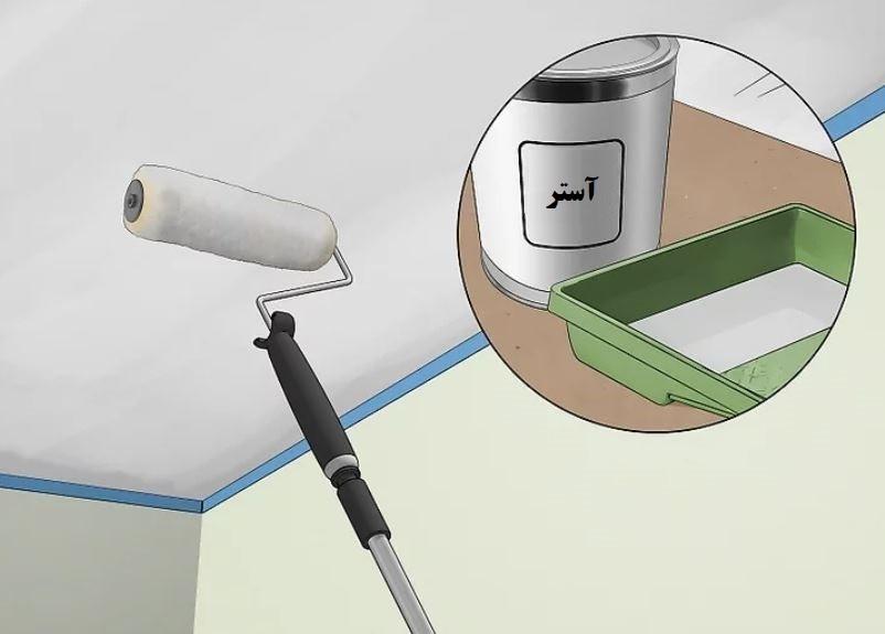 آموزش گام به گام نقاشی ساختمان (قسمت ششم نقاشی سقف) 6