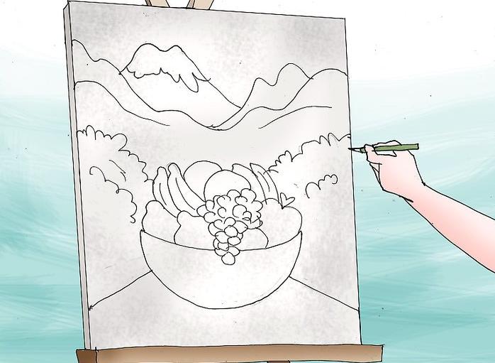 کارهای هنری با رنگ اکریلیک قسمت اول- نقاشی روی بوم در 5 قدم 9
