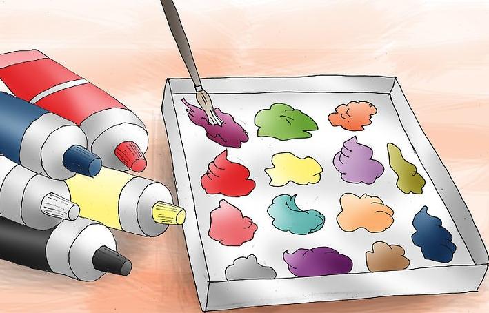 کارهای هنری با رنگ اکریلیک قسمت اول- نقاشی روی بوم در 5 قدم 10