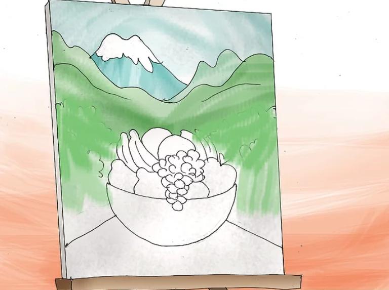 کارهای هنری با رنگ اکریلیک قسمت اول- نقاشی روی بوم در 5 قدم 13
