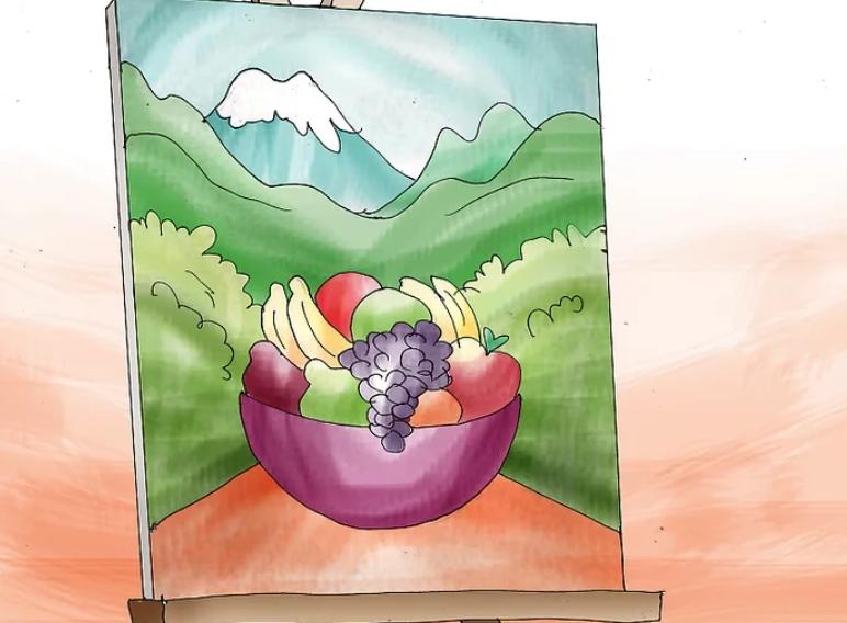 کارهای هنری با رنگ اکریلیک قسمت اول- نقاشی روی بوم در 5 قدم 15