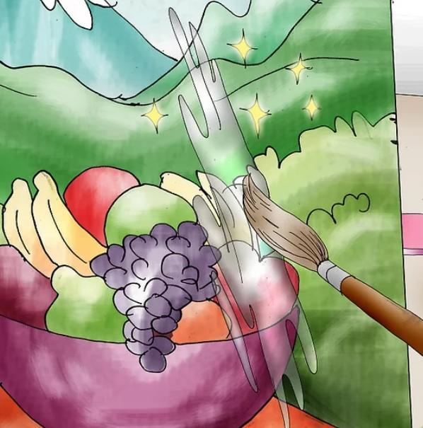 کارهای هنری با رنگ اکریلیک قسمت اول- نقاشی روی بوم در 5 قدم 17