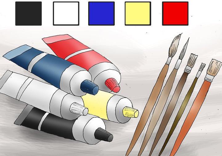 کارهای هنری با رنگ اکریلیک قسمت اول- نقاشی روی بوم در 5 قدم 1