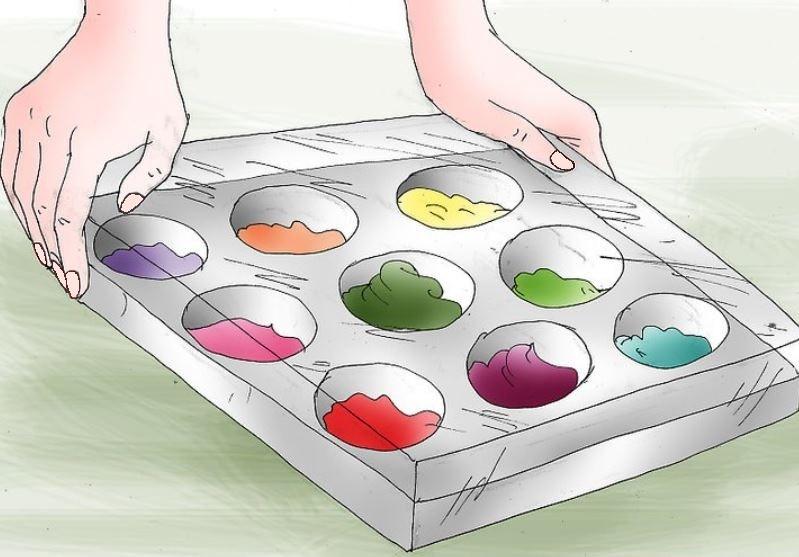 کارهای هنری با رنگ اکریلیک قسمت اول- نقاشی روی بوم در 5 قدم 19