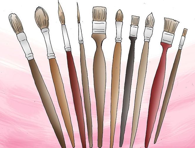 کارهای هنری با رنگ اکریلیک قسمت اول- نقاشی روی بوم در 5 قدم 2