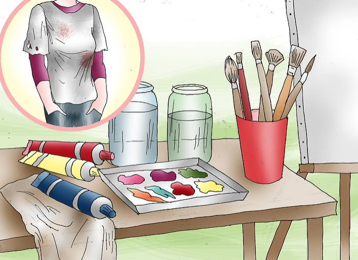 کارهای هنری با رنگ اکریلیک قسمت اول- نقاشی روی بوم در 5 قدم 7