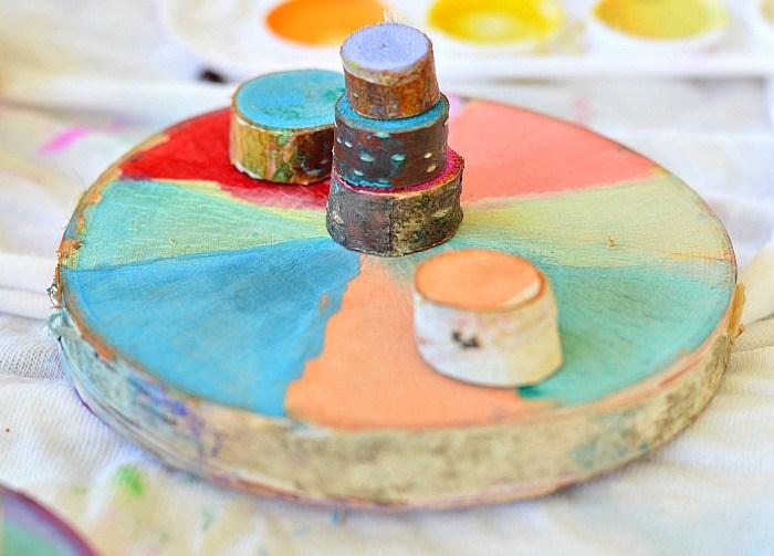 کارهای هنری با رنگ اکریلیک قسمت دوم-نقاشی روی چوب،شن و نمد